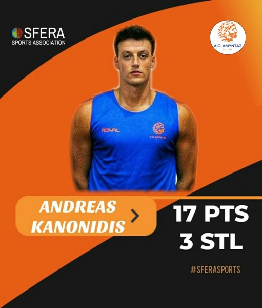 Good game by Kanonidis who led Amyntas to the next round of Greek Cup!