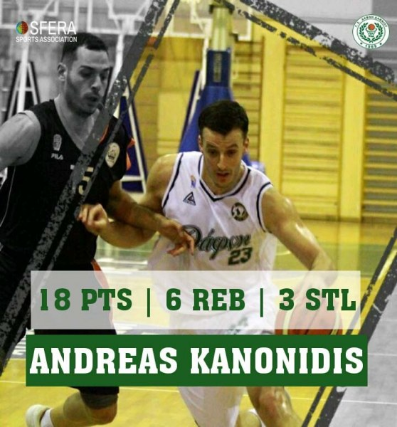 One more all around perfomance by Kanonidis!