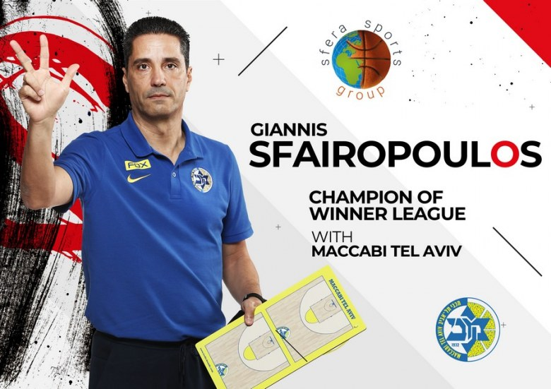 Giannis Sfairopoulos led Maccabi Tel Aviv to the title of Winner League for 2nd consecutive season!