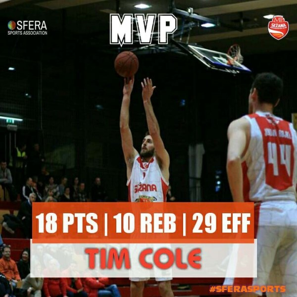 A double-double for ΜVP Cole in just 16 minutes of action!