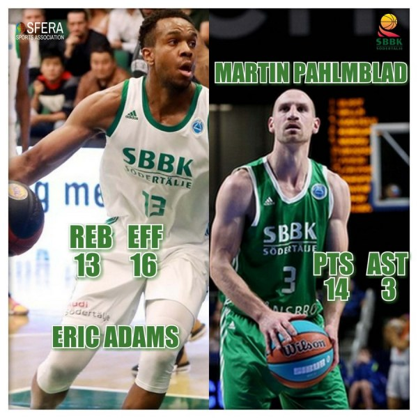 Adams and Pahlmblad did a good job in important away win over Köping Stars!