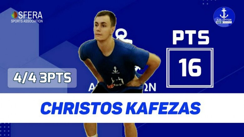 Kafezas was the top scorer of Triton in his debut!