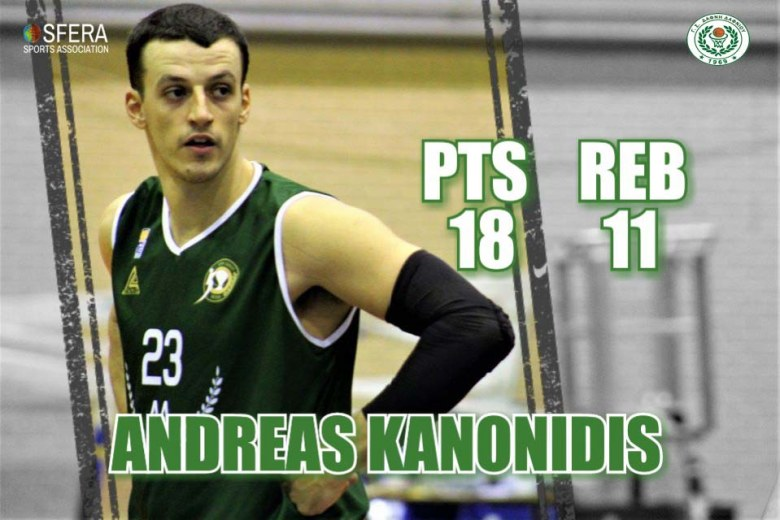 Kanonidis was the top scorer and top rebounder of Dafni Dafniou in their win!