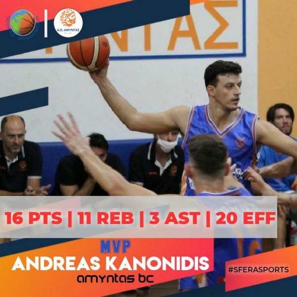 Kanonidis shined against Agrinio!