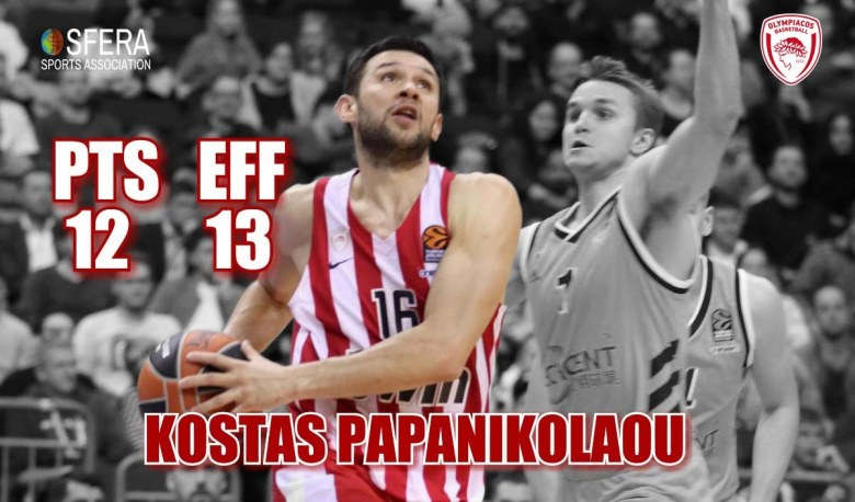 Papanikolaou was one of the leaders for Olympiacos against Alba Berlin!