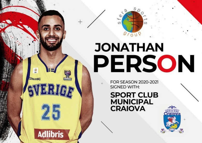Jonathan Person will play for Sport Club Municipal Craiova the season 2020-21!